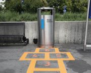 """Source: Swiss Miss - """"These playful floor stickers made me chuckle. It's an initiative by the city of Lucerne (Switzerland) to get people to notice and use garbage cans. What a fun idea! Hat tip!"""""""