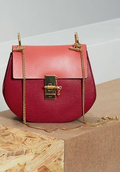 Chloé ~ Drew Small Leather Should Bag, Red
