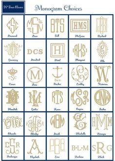 As much as I love Monograms, I don't have anything that is! Gotta start incorporating!!!