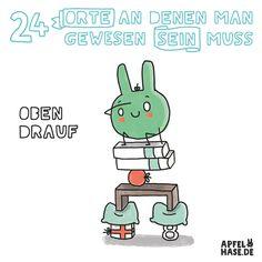 Apfelhase Adventskalender #8: Oben drauf Illustration, comic, drawing, Zeichnung