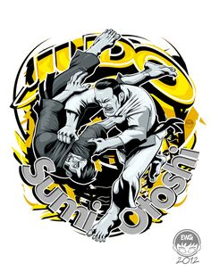 JudoShirt Design 4 - Sumi Otoshi Fin by EryckWebbGraphics on deviantART