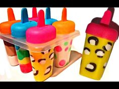 How To Make Play Doh Ice Cream Popsicles with Molds Fun and Creative for Kids - YouTube