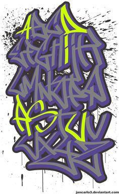 Graffiti alphabet (free download) by Jancarlo3 on DeviantArt