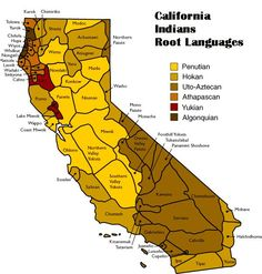California | California Indians Language Map (provided by Native American Heritage ...