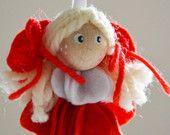 Angioletto di pannolenci #Christmas #diy #handmade #craft #heart #Angel #felt