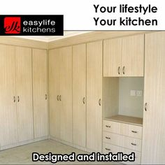 Bedroom, bathroom, kitchen and lounge, Easylife Kitchens George can design and install with fittings to your specifications. Give us a call for a consultation. Furniture, Can Design, Home Decor, Cupboard, Locker Storage, Storage, Armoire, Kitchen Design, Lounge