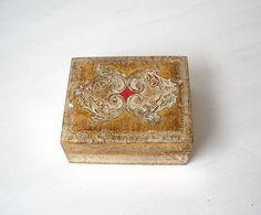 Vintage Florentine Wood Trinket Box Gilt by MomsantiquesNthings, $27.00