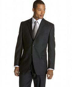 Calvin Klein Suit Separates, Grey Shadow Stripe - Mens Suits & Suit Separates - Macy's