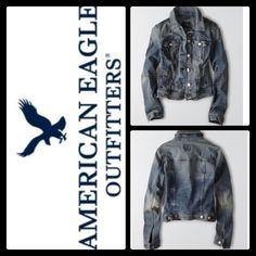 ✔️ AMERICAN EAGLE AEO DENIM JACKET ✔️ ✔️American Eagle Outfitters AEO Denim X Jacket. PRODUCT DETAILS Introducing AEO Denim X: our best fit ever. Designed in revolutionary high performance stretch that won't bag out and hugs your curves in all the right ways. 69% Cotton, 16% Viscose, 13% Polyester, 2% Elastane • Soft stretch cotton denim • Six-button front • Straight point collar • Button-flap chest patch pockets • Vertical hip welt pockets • One-button cuffs • Adjustable buttoned waist tabs…