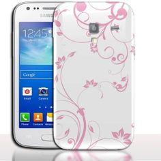 Coque Samsung Galaxy ACE 2 Fleurs Rose Clair. #Flowers #i8160 #Pink #PhoneCase