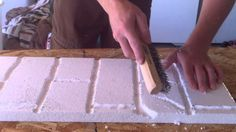 "How to make a faux brick wall out of styrofoam. Using this to create a fun retro style booth for our volunteer drive.  We are running a smaller version of Gwinnett church's ""Share the Experience"" volunteer campaign.  We couldn't be more excited!"