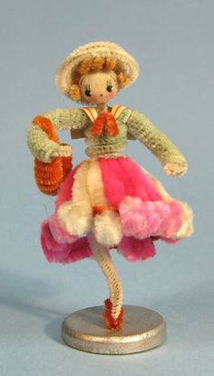 Vintage-Chenille-Pipe-Cleaner-Lady-