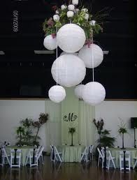 Hanging round lanterns for reception decorations