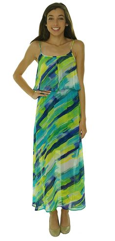 Calvin Klein Womens Petites Chiffon Fly-Away Maxi Dress >>> Don't get left behind, see this great  product : Plus size dresses