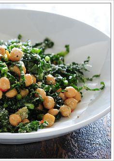 1 small red chilli, finely diced, optional  1 tablespoon sherry vinegar or lemon juice  1 can chickpeas (400g / 14oz), drained  1/2 bunch cavalo nero, kale, spinch or silverbeet (chard)  2 handfuls finely grated parmesan