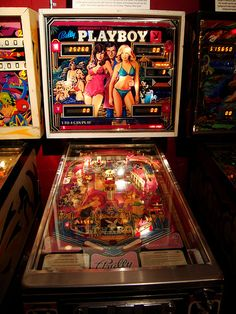 1978 Bally Playboy pinball machine. I found one of these at Art-a-Whirl in Northeast MPLS a few years ago. I could see it through a crack in a wall and the guy offered to sell it to me for $1500...I don't know if that's a good deal or not but I would have taken it :)