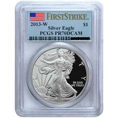 2013-W Silver American Eagle PR70 DCAM FS PCGS Flag Label
