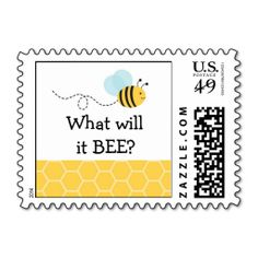 Bumble Bee Gender Reveal Postage Stamps
