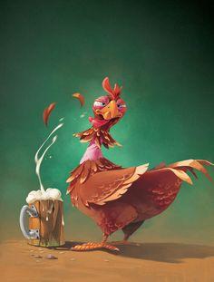 Chicken by bib0un on deviantART ★ Find more at http://www.pinterest.com/competing/