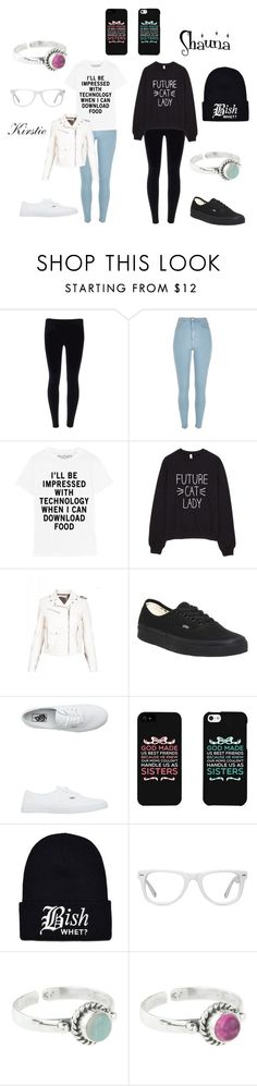 """""""Untitled #58"""" by mrs-black-xc ❤ liked on Polyvore featuring River Island, Golden Goose, Vans, Muse and Rock 'N Rose"""