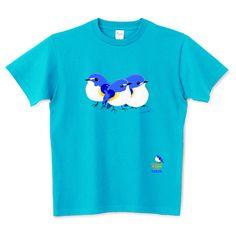 まるい小鳥ちゃん ルリビタキ | デザインTシャツ通販 T-SHIRTS TRINITY(Tシャツトリニティ)