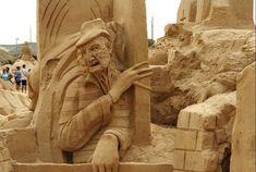 sand sculptures | Fiesa Sand Sculpture Festival - The Simpsons, Darth Vader & More ...
