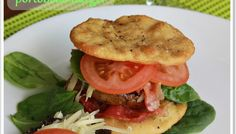 Grilled Portobello Mushroom Burger on homemade focaccia bread #vegetarian #burger | www.wineladycooks.com