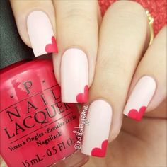 ▶️PLAY Side heart nails VIDEO tutorial soo simple to do