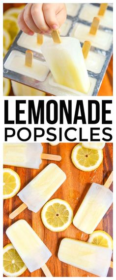 Fresh Lemonade Popsicles are a fun dessert recipe for kids and parents. Make this ice pops recipe with fresh ingredients for a tasty summer treat. via summer recipes summer recipes abendessen rezepte recipes recipes dessert recipes dinner Ice Pop Recipes, Dessert Recipes For Kids, Kids Cooking Recipes, Jello Recipes, Kid Recipes, Whole30 Recipes, Cooking Turkey, Recipes Dinner, Coctails Recipes