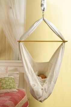 Miyo baby hammock- space saver!! @Samantha @This Home Sweet Home Blog @AbdulAziz Bukhamseen Home Sweet Home Blog knez