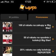 Mobile coupons with Wyspa