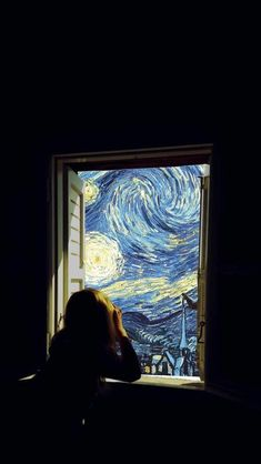 Sternennacht – Van Gogh (Lockscreen) - All About Decoration Inspiration Art, Art Inspo, Tumblr Wallpaper, Wallpaper Backgrounds, Van Gogh Wallpaper, Vincent Van Gogh, Van Gogh Arte, Art Du Collage, Photocollage