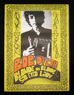 Authentic Bob Dylan Konst vintage poster 1960 s Blonde on Blonde Sad Eyed Lady