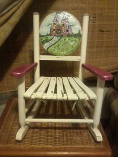 Perfect Funky Painted Wood Chairs | Childu0027s Funky Hand Painted Wooden Rocker Zebra  By ThreeSixtyThrift ... | Painting | Pinterest | Rockers And Woods