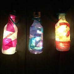 Plastic miniature wine bottle lanterns Wine Bottle Lanterns, Mason Jar Lamp, Miniatures, Table Lamp, Plastic, Decor, Table Lamps, Decoration, Decorating
