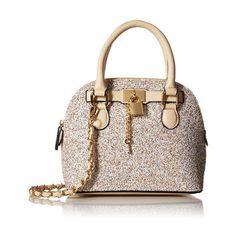 Aldo Cormak Satchel Bag, Gold ❤ liked on Polyvore featuring bags, handbags, gold satchel handbag, aldo bags, gold bag, top handle handbags and satchel style purse