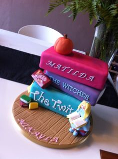 Roald Dahl Day Cake!  Matilda Book Cake