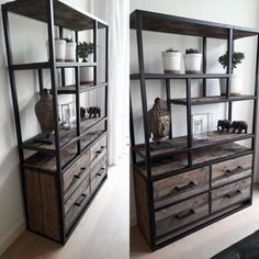 Industrial Shelving, Industrial Furniture, Industrial Style, Cutlery Storage, Man Cave Diy, Diy Outdoor Table, Living Room Designs, Decoration, Sweet Home