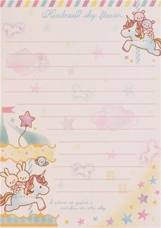 cute bunny bear unicorn star block Note Pad by Q-Lia 6