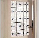 Zelfklevend raamfolie glas in lood licht 45cm