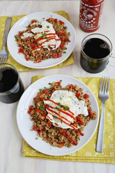 Stir fry breakfast quinoa + wild rice