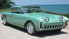 Chevrolet Biscayne show car that was part of the 1955 General Motors Motorama. 1955 Chevrolet, Chevrolet Corvette, 1955 Chevy, Pontiac Gto, Weird Cars, Cool Cars, Crazy Cars, New Chevy, Roadster