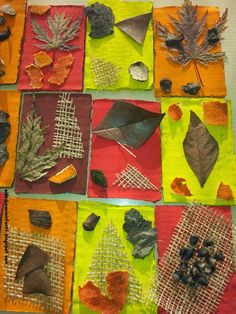 EI D' EDUCACIÓ INFANTIL: ART A LA TARDOR Autumn Crafts, Autumn Art, Nature Crafts, Fall Preschool, Preschool Crafts, Nature Collage, Art Education Lessons, Fall Art Projects, Diy Letters