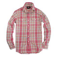 RRL チェック柄フランネルワークシャツ