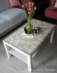 Mod Podge nailhead table - IKEA goes glam!