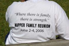 Napper Family Reunion t-shirt. More t-shirt and fundraising ideas at reunionsmag.com