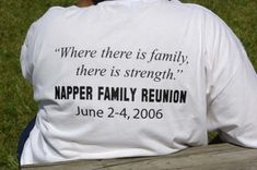 Napper Family Reunion t-shirt. More t-shirt and fundraising ideas at reunionsmag.com