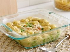 Food Network Kitchen's version of this old-fashioned dish works beautifully in the microwave. It is made with rotisserie chicken, so you're halfway done before you start.