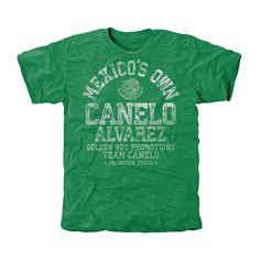 Golden Boy Promotions Canelo Alvarez Mexico's Own Tri-Blend T-Shirt - Green - $32.99
