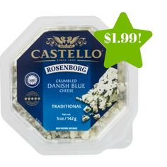 Wegmans: Castello Crumbled Danish Blue Cheese Only $1.99 - http://www.couponsforyourfamily.com/wegmans-castello-crumbled-danish-blue-cheese-only-1-99/